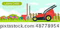 Horizontal Flat Banner Timely Modern Lawn Care. 48778954