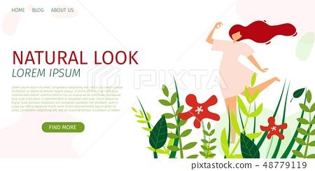 Horizontal Flat Banner Natural Look Trend Season. 48779119