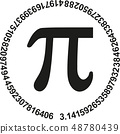 Pi with numbers of pi in a circle 48780439