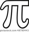 Pi sign outline 48780443