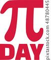 Pi sign day 48780445
