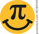 Smiley with pi sign 48780446