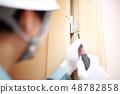 คนงาน (ผู้ขายซ่อมบำรุงซ่อมแซมธุรกิจก่อสร้างอาคารพื้นที่คัดลอกไม่มีเครื่องมือไดรเวอร์ใบหน้า) 48782858