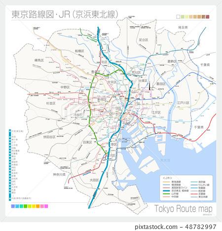 Route map of Tokyo · JR (Keihin Tohoku Line) 48782997