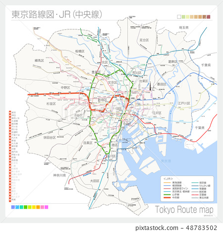 Tokyo route map, JR (Chuo Line) 48783502