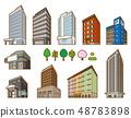 다양한 건물의 입체 일러스트 48783898