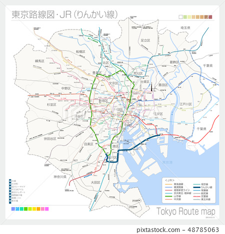 도쿄의 노선도 JR (린카이 선) 48785063