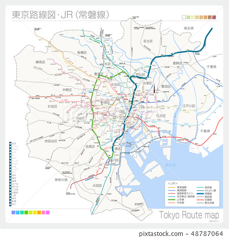 Route map of Tokyo, JR (Tokiwa Line) 48787064