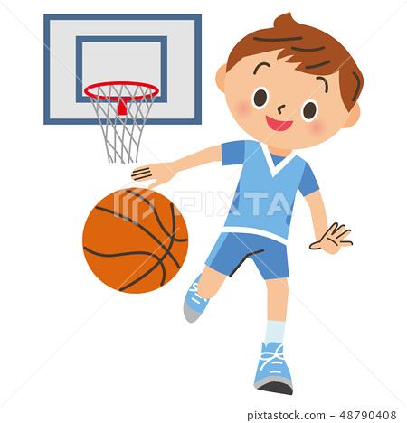 打籃球的男孩 48790408