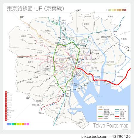 Tokyo route map, JR (Keiyo Line) 48790420