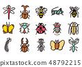 곤충 (곤충) 일러스트 컷 48792215