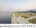 Hangang River Park evening landscape Seoul Korea 48794815