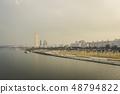 Hangang River Park evening landscape Seoul Korea 48794822