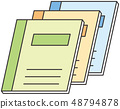 Illustration of a notebook 48794878
