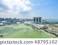 Marina Bay aerial building architecture Singapore 48795102