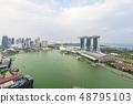 Marina Bay aerial building architecture Singapore 48795103