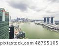 Marina Bay aerial building architecture Singapore 48795105