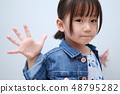 休閒(夏裝春裝一體式牛仔女童日系外套女童裝3歲時尚) 48795282