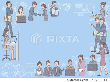 Business scene frame 48798211