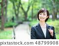 Office suit Woman in a suit Office lady OL Business suit Portrait Recruit 48799908