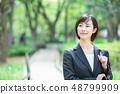Office suit Woman in a suit Office lady OL Business suit Portrait Recruit 48799909