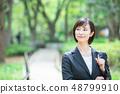 Office suit Woman in a suit Office lady OL Business suit Portrait Recruit 48799910