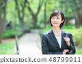 Office suit Woman in a suit Office lady OL Business suit Portrait Recruit 48799911
