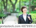 Office suit Woman in a suit Office lady OL Business suit Portrait Recruit 48799913