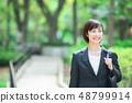 Office suit Woman in a suit Office lady OL Business suit Portrait Recruit 48799914