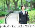 Office suit Woman in a suit Office lady OL Business suit Portrait Recruit 48799915