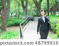 Office suit Woman in a suit Office lady OL Business suit Portrait Recruit 48799916