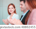 Business team clapping for successful meeting 48802455