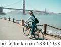 自行车 脚踏车 桥 48802953