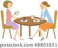 咖啡馆女性 48803931