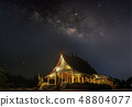The Milky Way is above the Thai temples 48804077