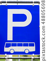 Bus parking sign 48805698