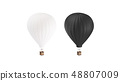 Blank black and white balloon with hot air mockup  48807009
