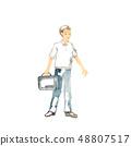 Men holding a business bag 48807517