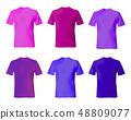 T shirt design template. Set men shirts blue, 48809077