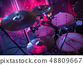 Rock music background with drum set 48809667