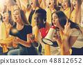 stadium soccer fans emotions portrait 48812652