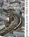 Top view on Berliner railway station and train 48814983