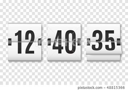 Countdown timer with numbers isolated.  48815366