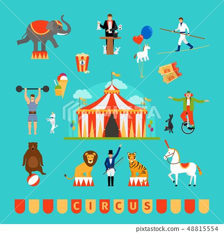 Circus and fun fair elements 48815554