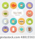 Tea flat icons 48815563