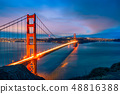 Golden Gate Bridge at night 48816388