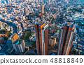 도쿄 도시 풍경 황혼 48818849