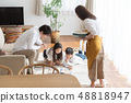一家四口,父母和小孩,每天,好朋友,家庭團體 48818947