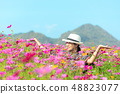 Traveler asian woman relax and freedom 48823077