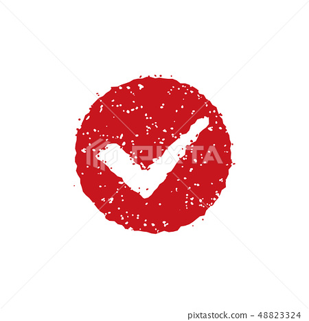 Stamp, rubber stamp icon (check mark) 48823324